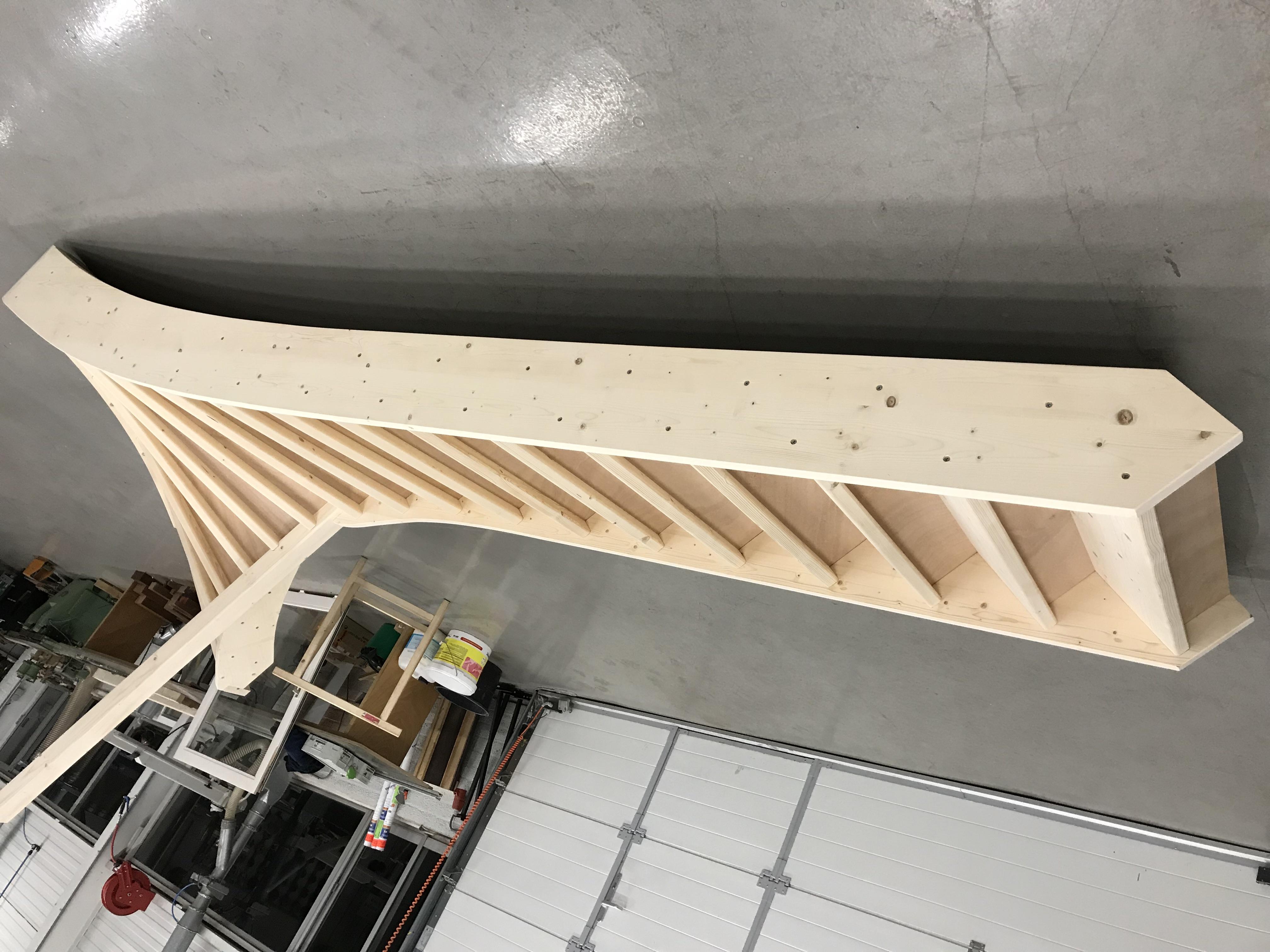 houten witte trap